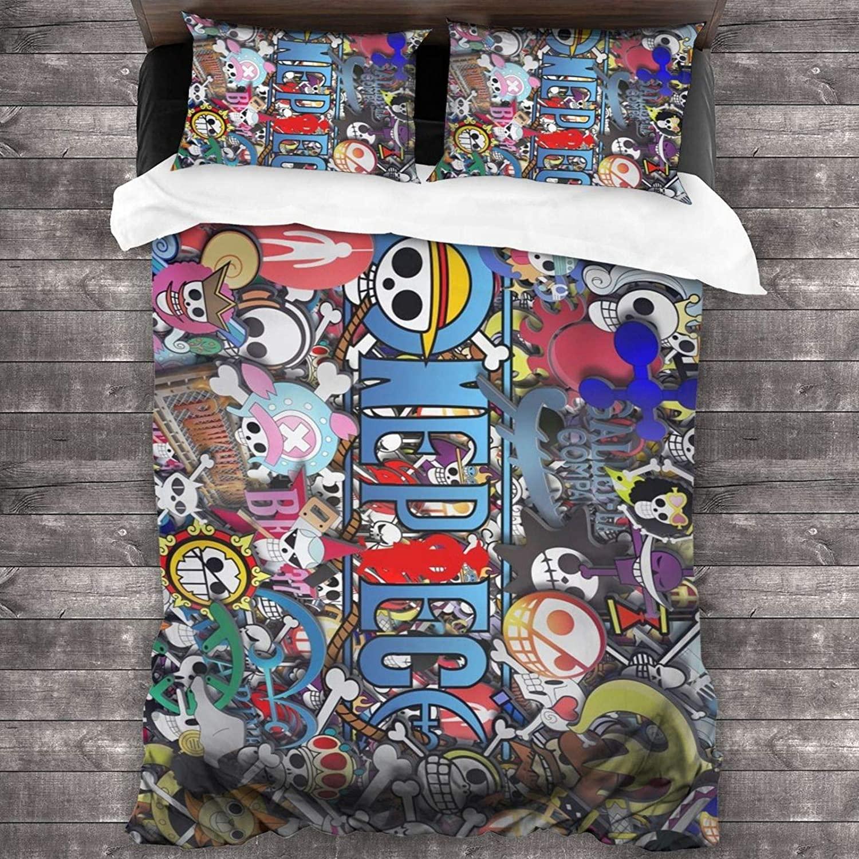 الترا لينة 3 قطعة طقم سرير قطعة واحدة القراصنة العلم راية ملصق مجموعة مع 1 لحاف مجموعة 2 كيس وسادة للفتيات النوم الأريكة