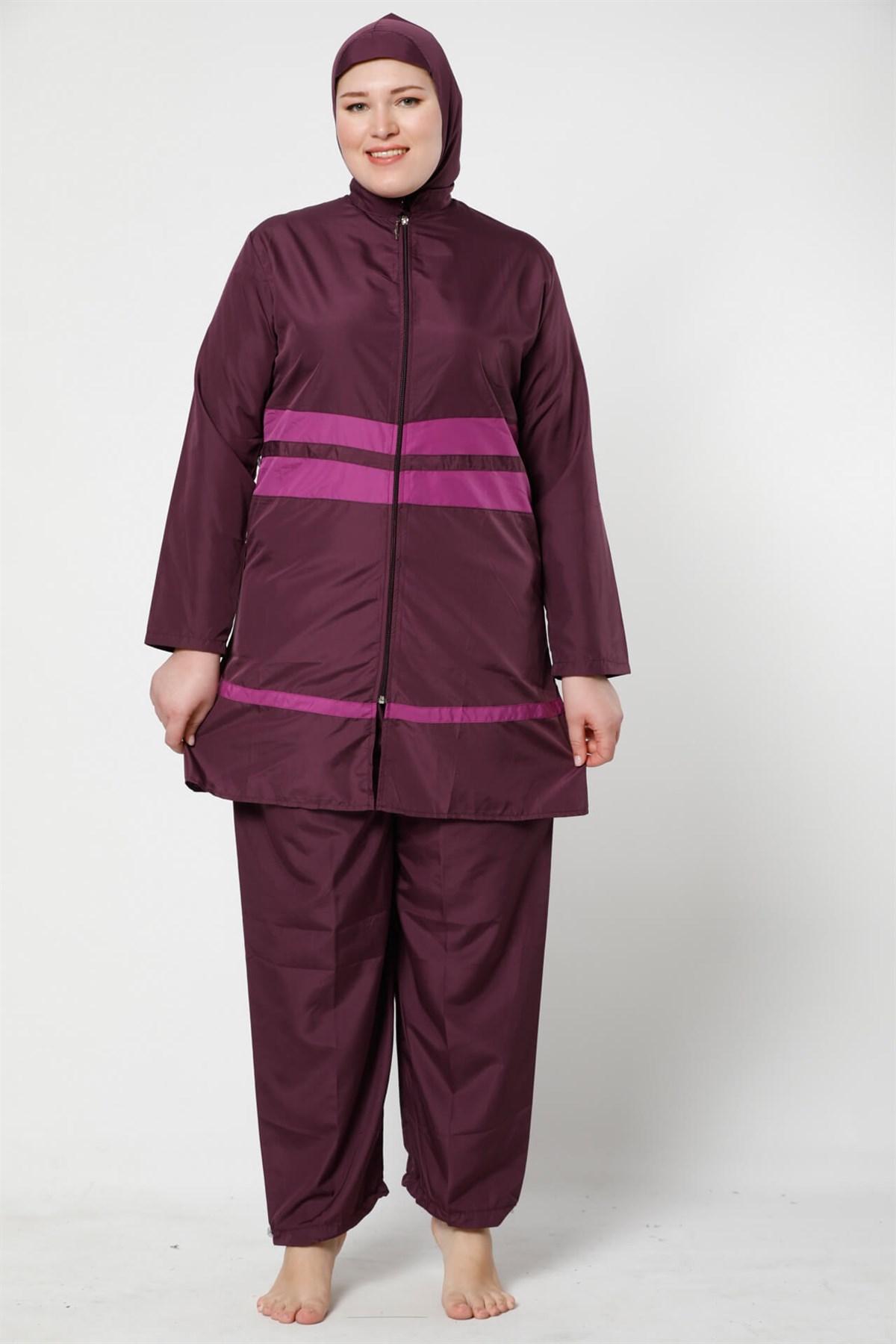 Fashion Cartoon Full Hijab Large Size Swimwear 28040