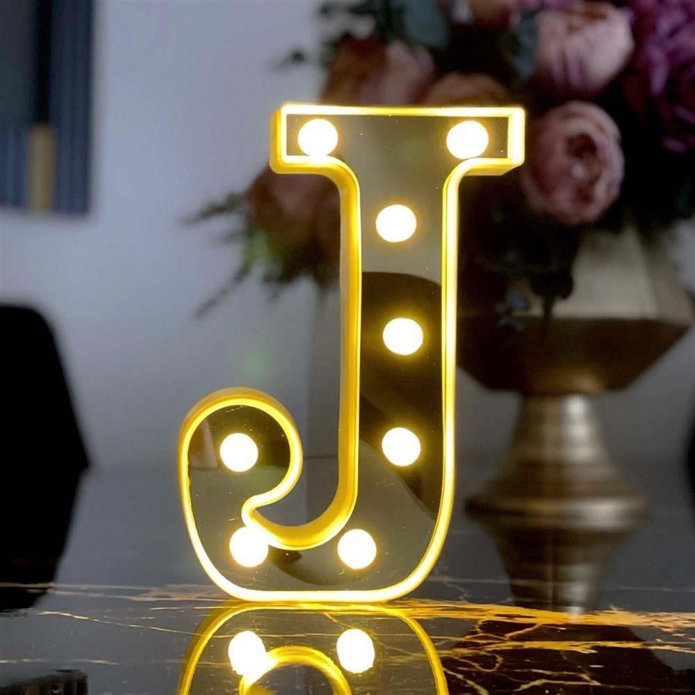 Decorative Led Illuminated 3d Letter J Big Size Organization Birthday, Marriage Proposal, Celebration