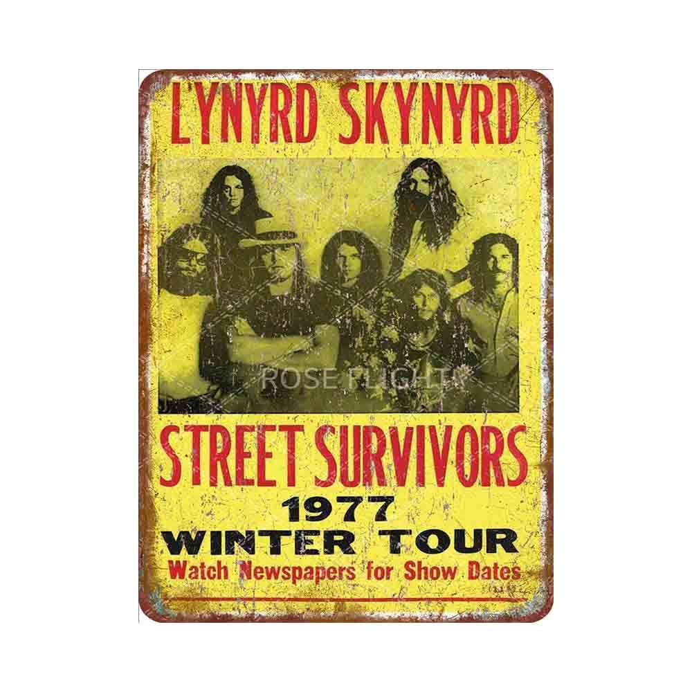 Lynyrd Skynyrd-cartel de estilo retro para decoración del hogar, cartel de hojalata...