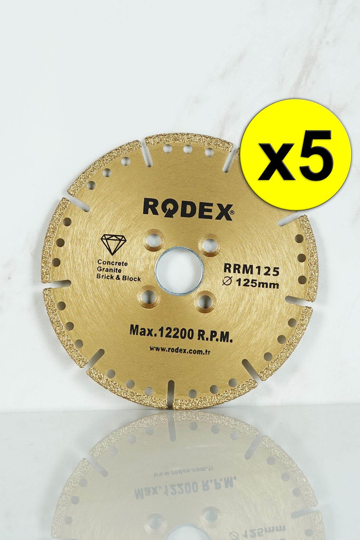 Rodex RRM125 Multi Purpose Multi Diamond Cutting Disc 125mm 5 Pcs