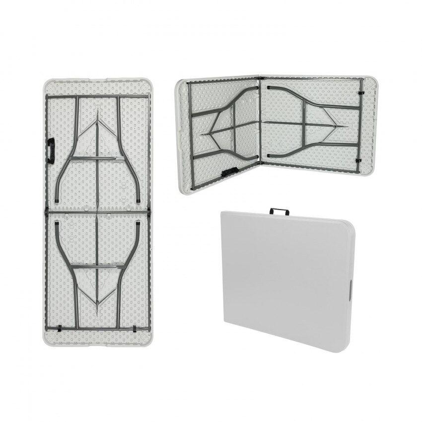 Folding Table 240cm Rectangular white Catering GH91
