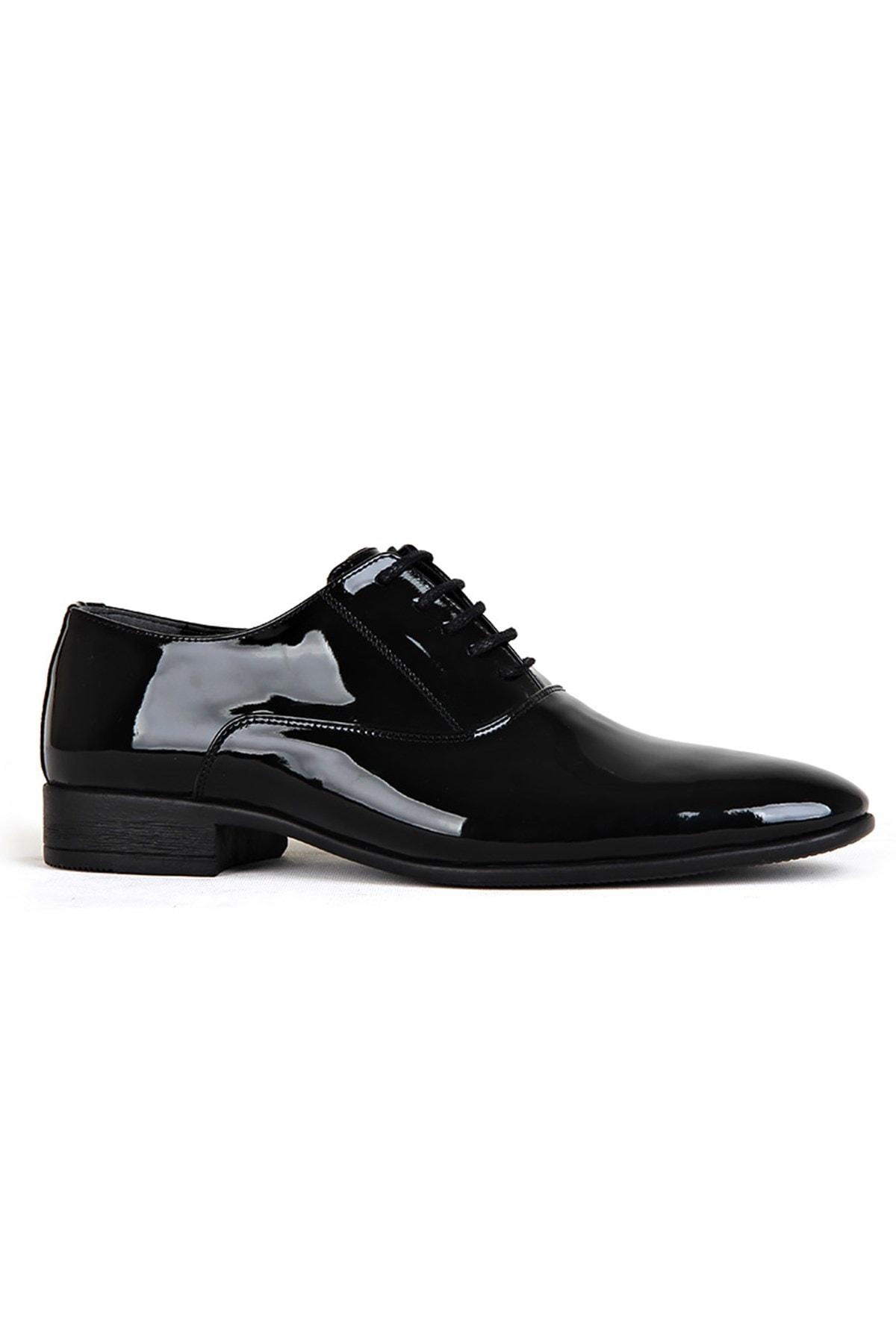 Black Mens Classic Shoes Men Casual Fashion Slip On Flat Dress Italian Style Wedding