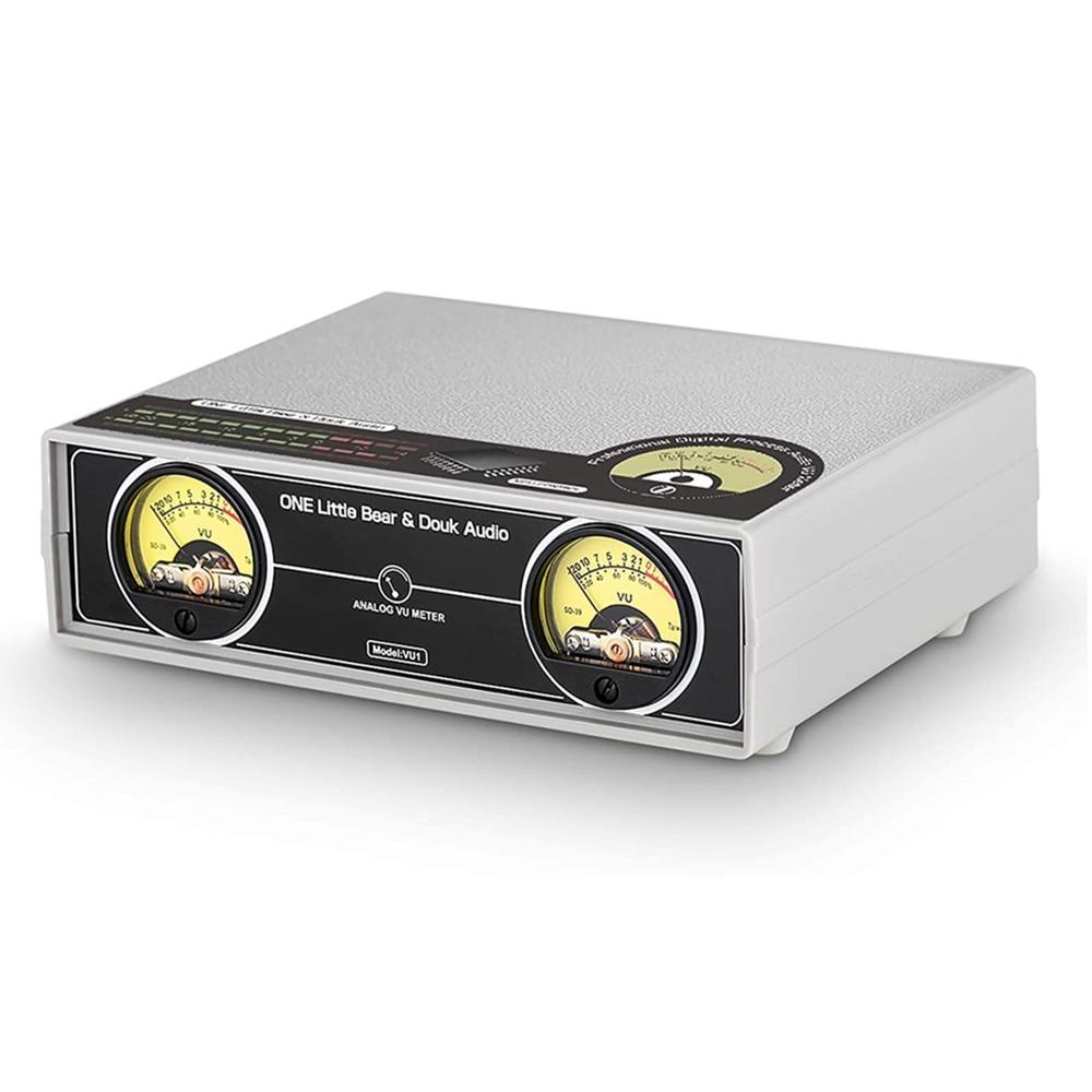 MIC + خط مزدوج التناظرية VU متر DB لوحة عرض ستيريو الصوت متخيل مستوى الصوت مؤشر ل مكبر كهربائي ، الاتحاد الأوروبي التوصيل