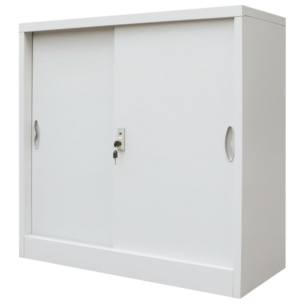 Шкафчик с замком, большой офисный шкаф, металлические шкафы для дома и школы с раздвижными дверями, металлические 35,4x15,7x35,4 дюйма, серый