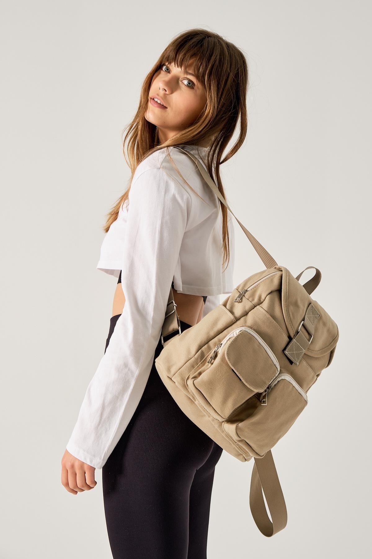 Новый сезон, специальный дизайн, Женский прочный тканевый рюкзак пурпурно-кремового цвета для повседневного использования