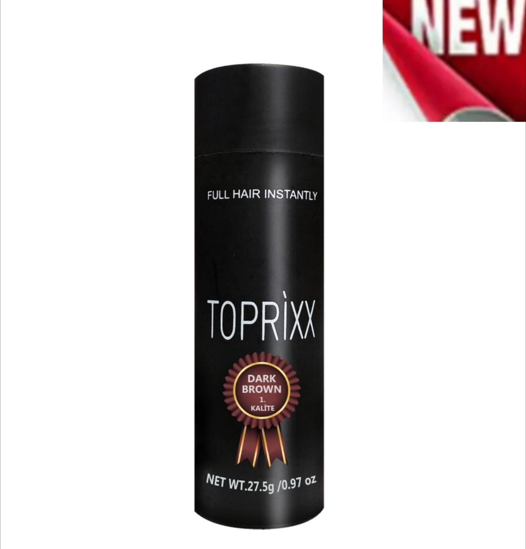 Haar keratin faser dunkelbraun Toprixx verdickung 27,5 gr instant nachwachsen pulver toppik perücke topik