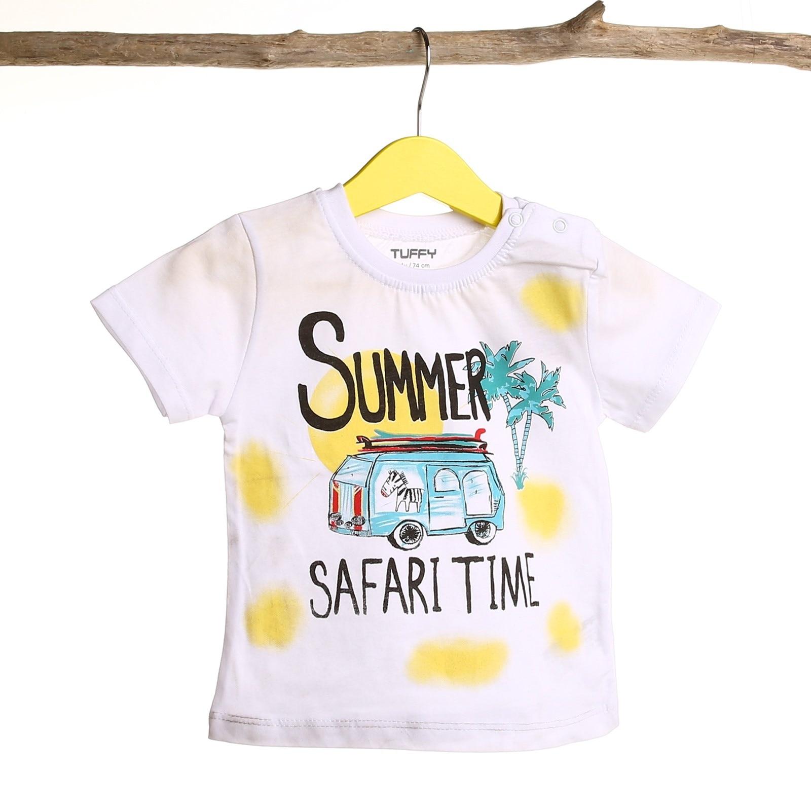 Ebebek Tuffy bebé niño cuello redondo Safari camiseta