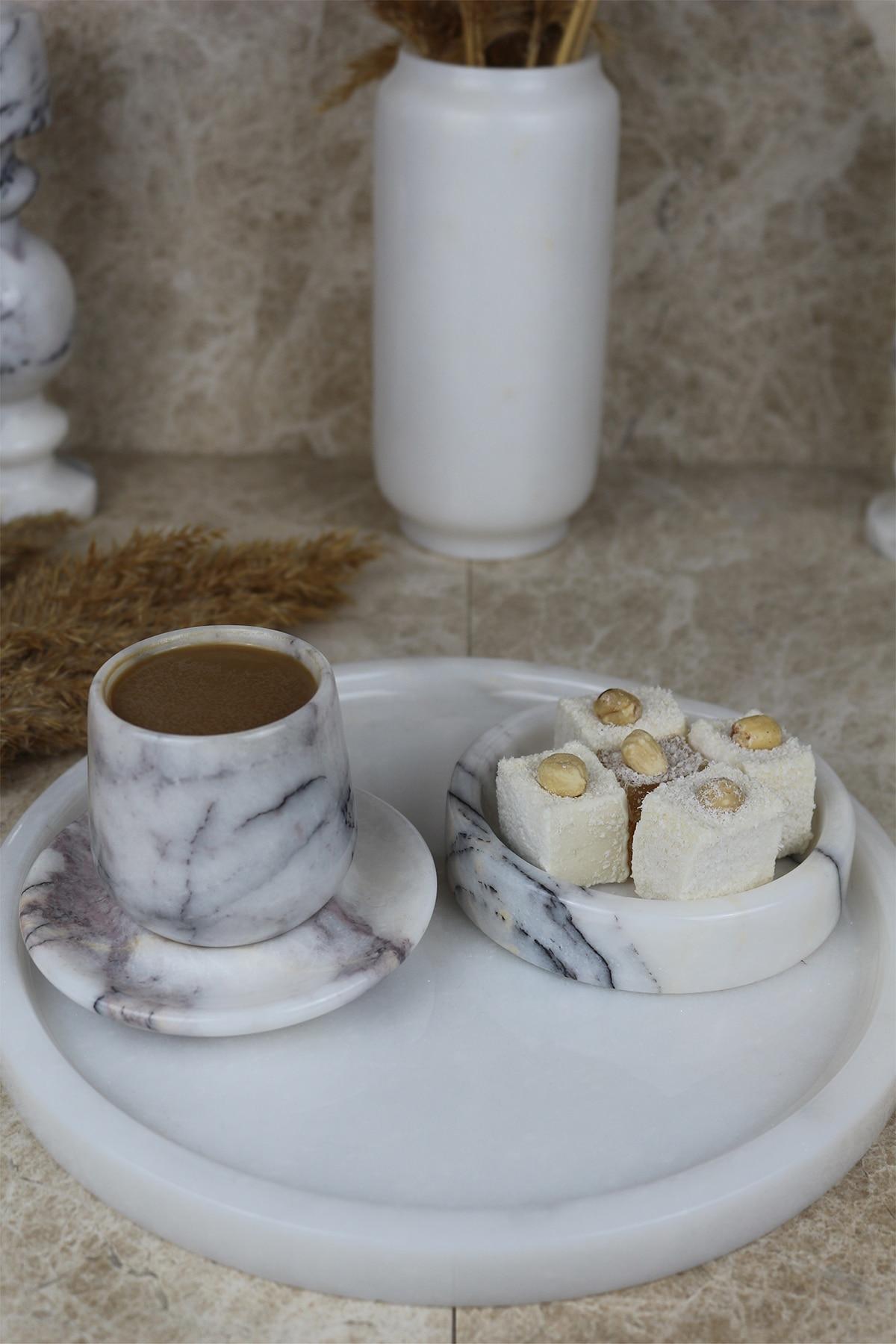 Nordic 25cm white real natural marble tray bathroom storage round jewelry box kitchen dish dispenser luxury Tiss