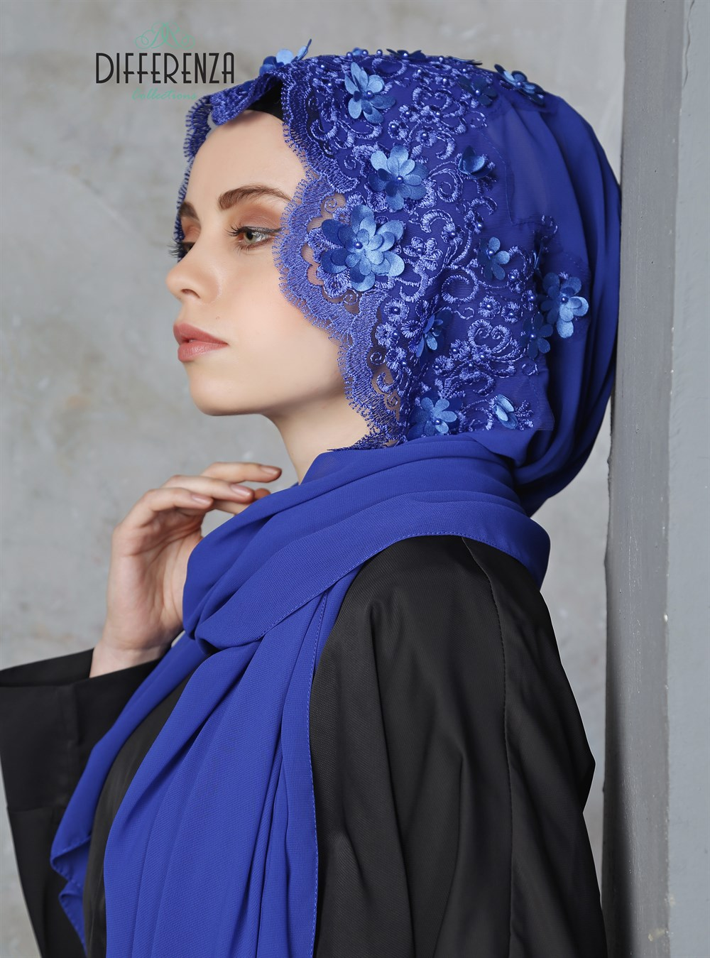 Hijab Turban Lace Haute  Couture Hand Made Special Design Differenza Muslim Women Clothing Islamic Fashion Turkey Wedding Gift haute couture ateliers the artisans of fashion