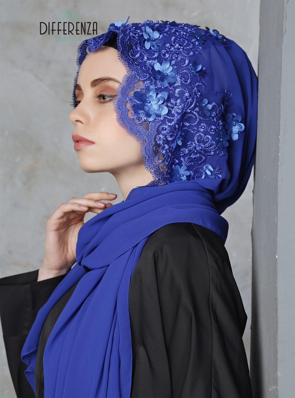 حجاب عمامة دانتيل هوت كوتور تصميم خاص تصميم مختلف ملابس نسائية إسلامية موضة تركية هدايا زفاف