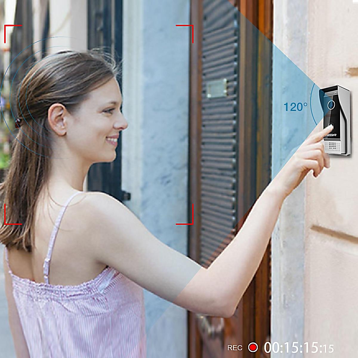 TMEZON 7 Inch 1080P TFT Wired Video Intercom System with1080p Waterproof Door Phone Camera,Support Recording / Snapshot Doorbell enlarge