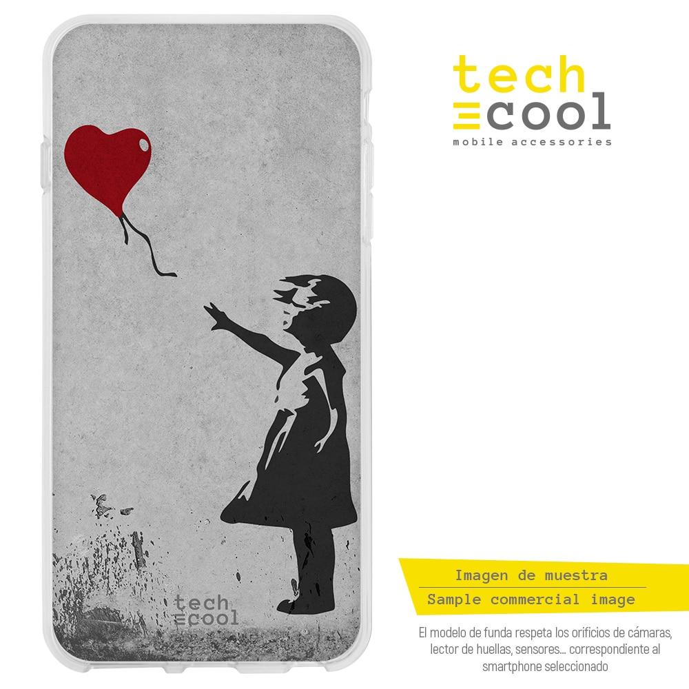 FunnyTech® Funda Silicona para Sony Xperia L1 l Banksy Graffiti niña globo