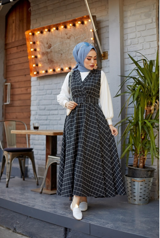 Dress 100% Knitted Crowbar Fabric Knitted Suit Thick Warm Women's Fashion Design Lux First Class Hijab Clothes Arabic Islamic