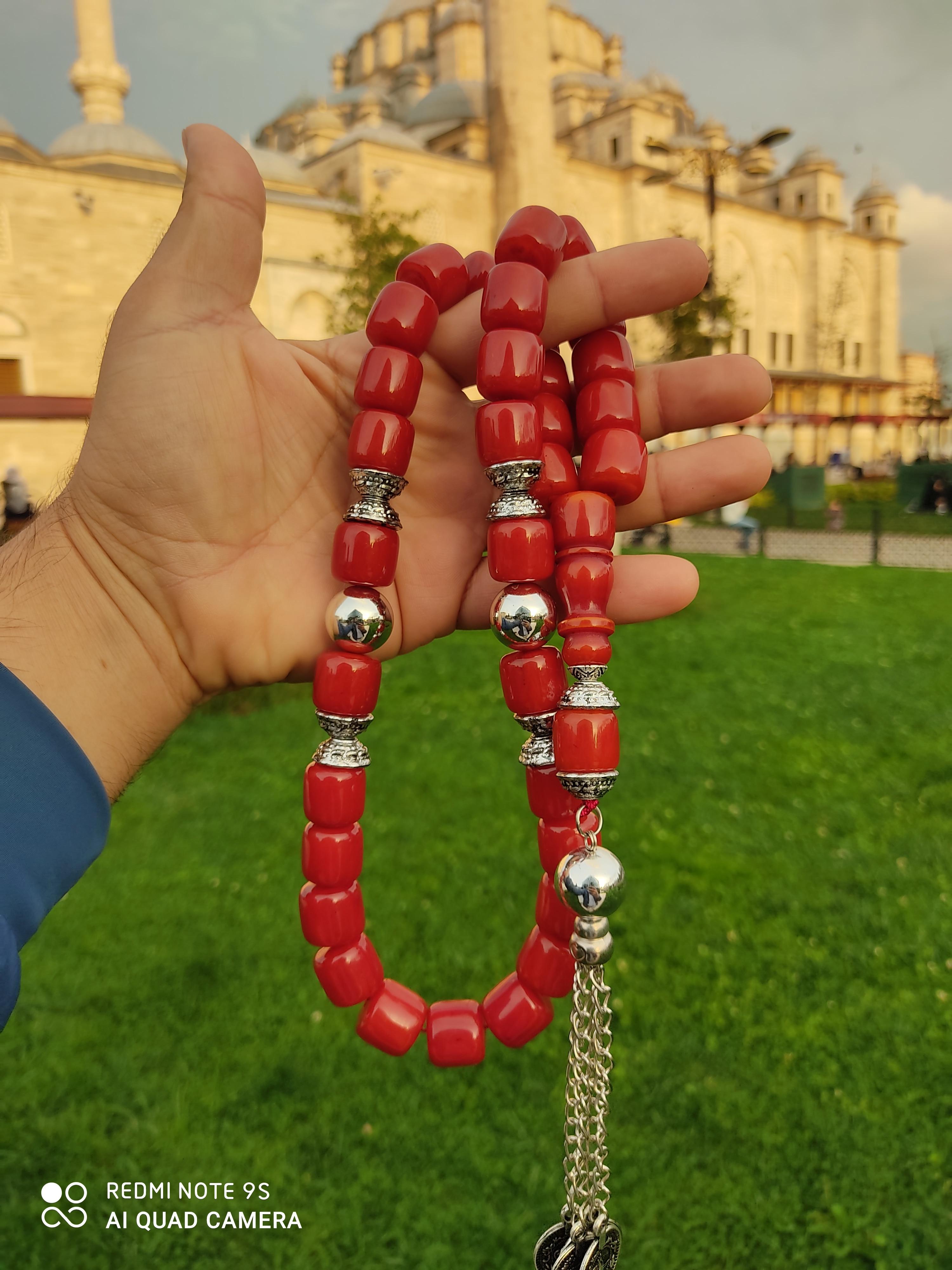 İslam Ottoman Kahraman Faturan German Cherry Amber Sandalous Misbaha Rosary Free Shipping Tasbih Tesbih İslamic Arabic Gift #38F