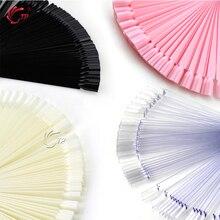 Tp 50 Stick/Set Fan Valse Nail Art Display Tips Verwijderbare Franse Acryl Gel Polish Coloring Praktijk Training Tonen tool Kit