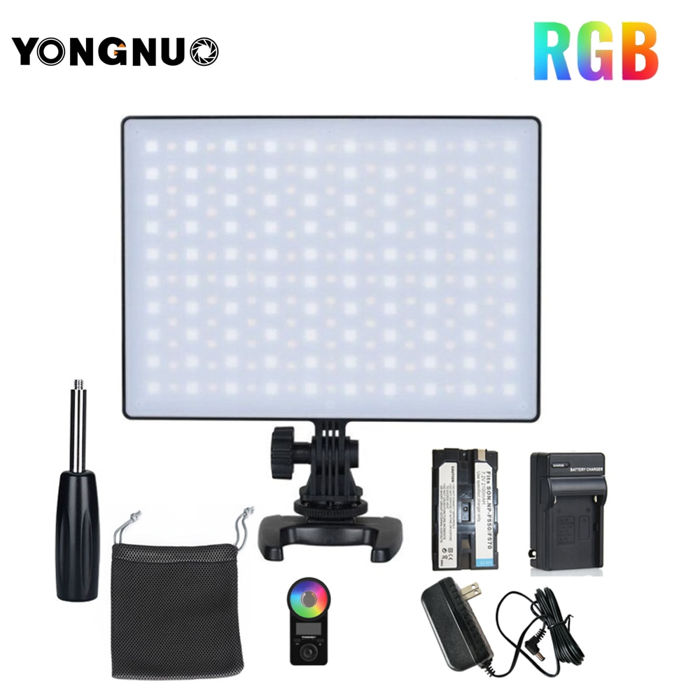 YONGNUO YN300 Air II YN300air II YN-300 air Pro 3200k-5500k RGB LED Camera Video Light for Canon Nikon