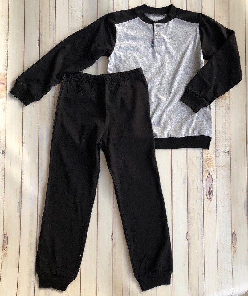 Детские пижамы, комплект детской одежды, для сна, пижама джемпер+брюки, RobyKris, арт. 40 02 13 05, черный серый