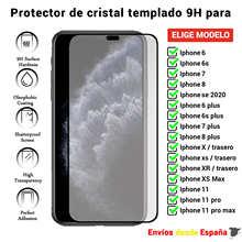 3D полная Защита экрана для iPhone 12 11 6 6s 7 8 X XS Max Mini Plus SE 2020 back. Черное закаленное стекло Movil