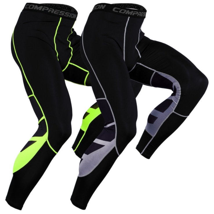Фото - Compression Pants Men Cycling Fitness Sports Running Tights Gym Jogging Pants Male Trousers Running Leggings Sportswear Workout men tights pants running training fitness sports leggings pocket gym jogging long sweat pants elastic breathable exercise pants