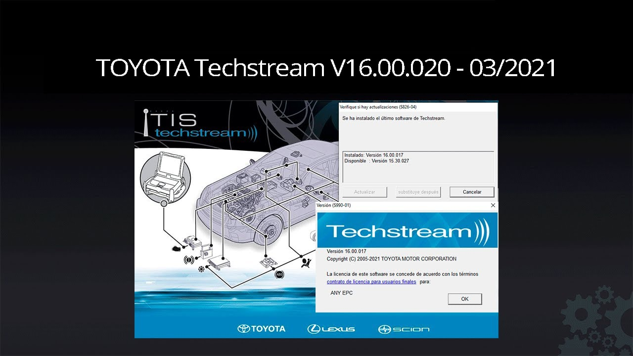 Программное обеспечение Techstream 03/2021 OBD2 для Toyota Lexus TIS V16.00.020        АлиЭкспресс
