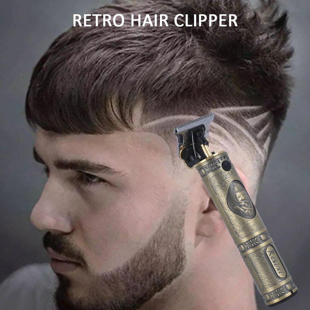Portátil USB recargable Clipper pelo maquinilla eléctrica para cortar el pelo Pro Máquina para cortar cabello barba Trimer para los hombres