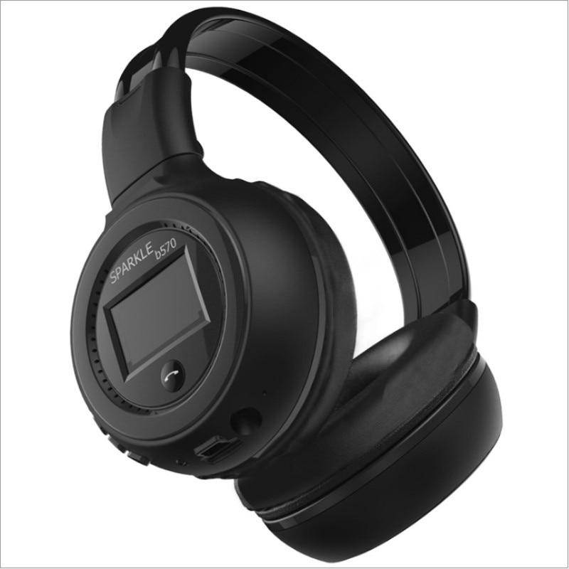 Fones de Ouvido Fone de Ouvido fm e Suporte sd com Microfone para Celular Estéreo Alta Fidelidade Bluetooth Música Cartão Xiaomi Iphone Baixo