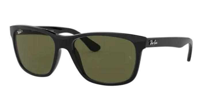 Rayban 4181 601/9A 57 Wayfarer Models Sunglasses Black Frame G-15 Green Polarized Lenses High Qualit