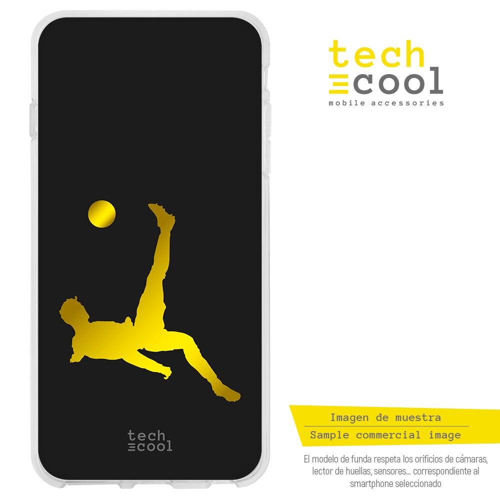 FunnyTech®Stand case for Samsung Galaxy S10 Silicone Plus l design design CR7 Chilean plain black background