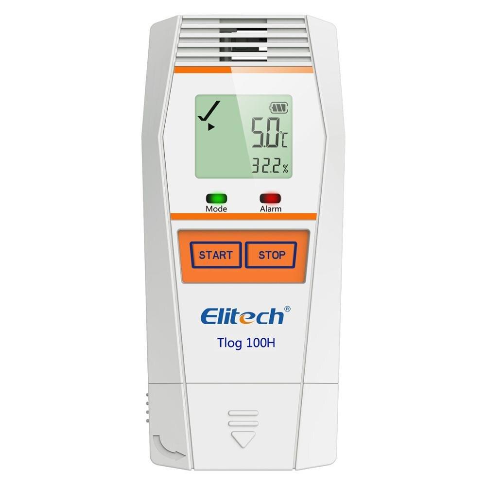 Elitech Tlog 100H درجة الحرارة و مسجل بيانات الرطوبة قابلة لإعادة الاستخدام درجة الحرارة مسجل PDF تقرير USB ميناء 32000 نقطة