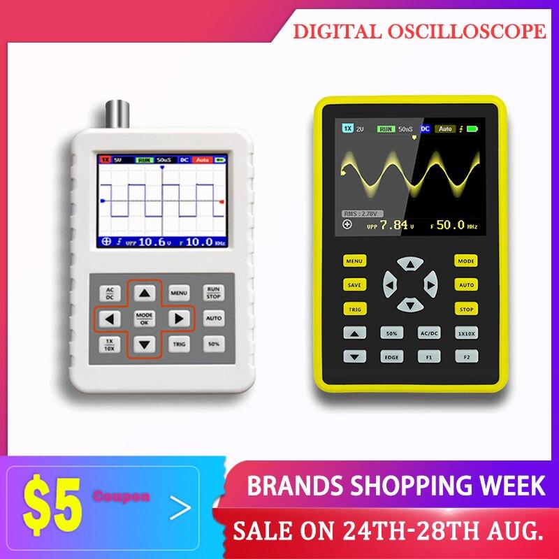 Kit de Host de osciloscopio Digital portátil de pantalla de 2,4 pulgadas 500 MS/s tasa de muestreo 100MHz soporte de ancho de banda analógico Waveform Storage