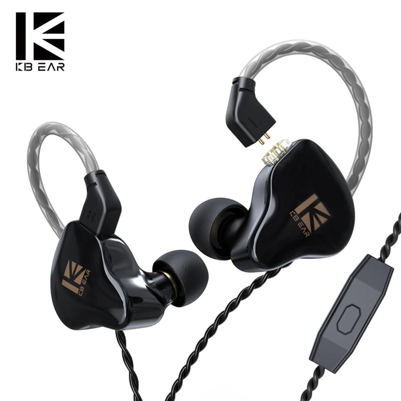 KBEAR KS1 Dual Magnectic Circuit Dynamic In Ear Earphone Running Sport HIFI Wired Headphones With Mic Earbuds Kbear KS2 KB06