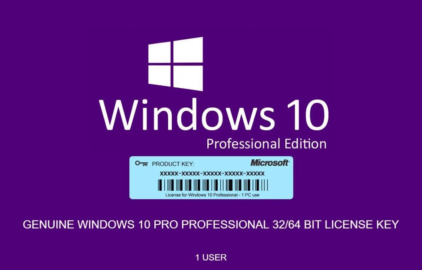 Windows 10 Pro 32/64 bit 2021 Instant delivery - Multilanguage - Original License Key