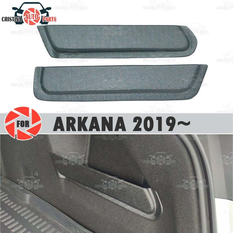Para renault arkana 2019 pocket bolso-almofada caixa no tronco caixa de armazenamento acessórios proteção decoração tronco bolso do carro no tronco