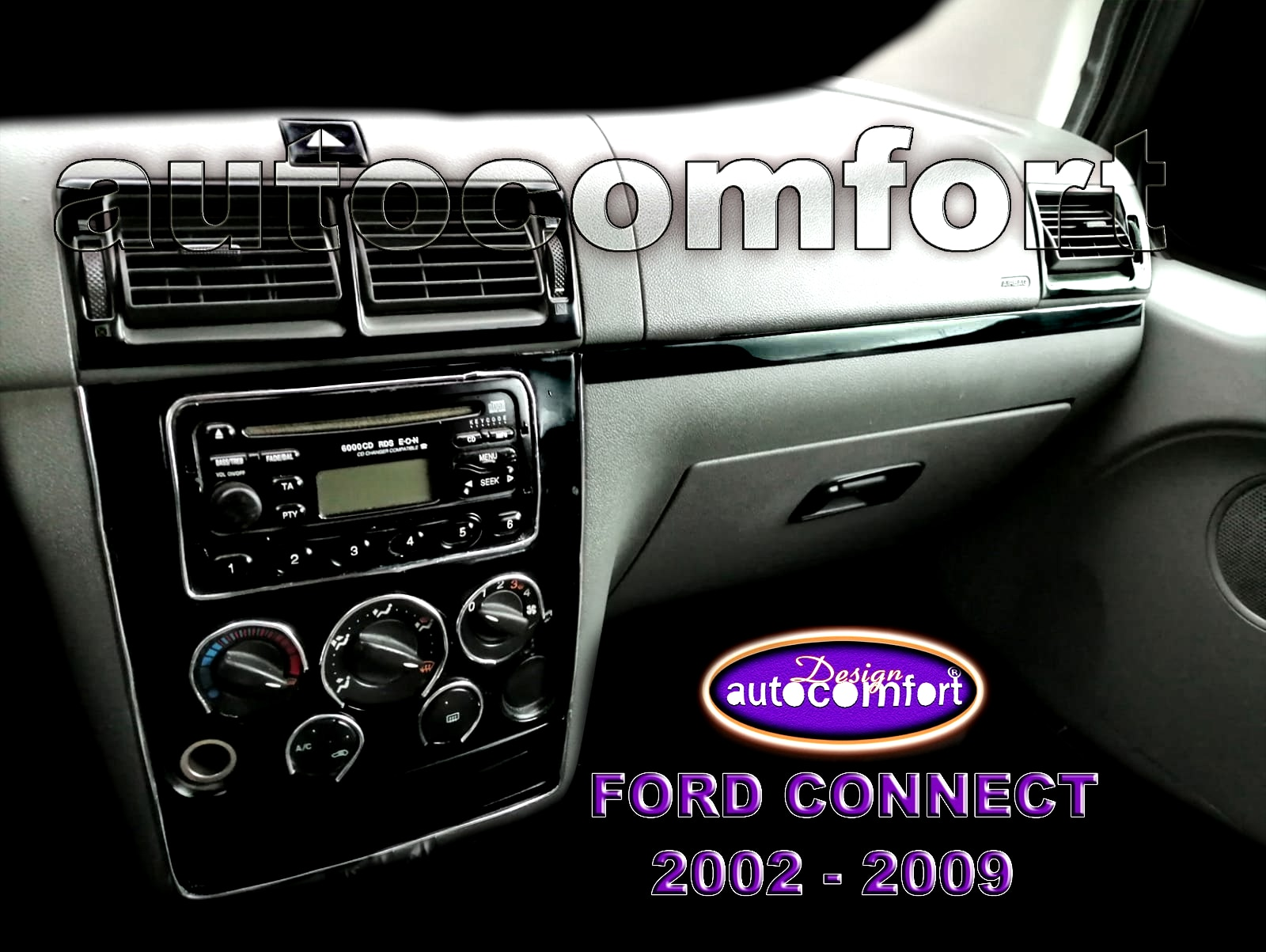 For Ford Connect 2002-2009 Dash Kit, Cockpit Decor, 5D Interior Trim Stickers, Torpedo Coating, Cover, Vehicele, Car Accessory enlarge