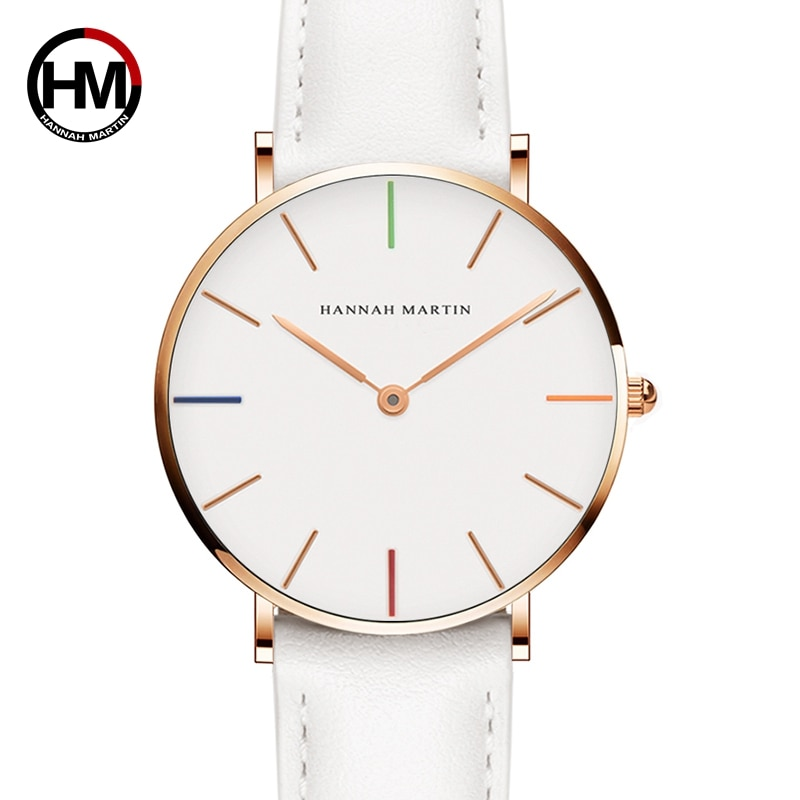 Hannah Martin Luxury Brand Quartz Women White Watches Life Waterproof Wristwatch Clock Gift for Women Female Watch Reloj Mujer hannah martin wristwatch women watches luxury brand quartz steel strap female watch diamond ladies watch clock women reloj mujer