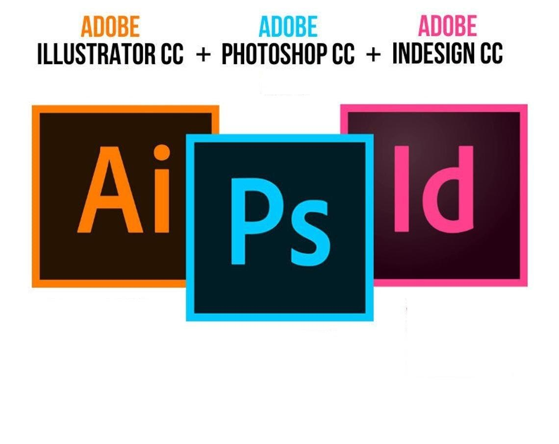 3 en 1 Pack - Adobe illustrateur CC , Adobe Photoshop CC , Adobe InDesign CC , Pour Windows 10 64 bits