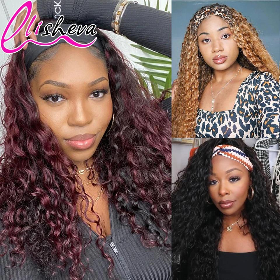 onda de agua bandana peruca do cabelo humano perucas para mulheres negras ombre 1b