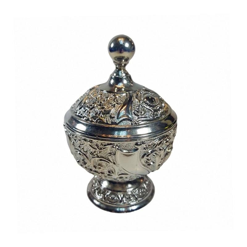 وعاء السكر التركي الحديث أنيق محفورة مصممة في الطراز القديم العتيقة مع غطاء هدية الزفاف منزل جديد