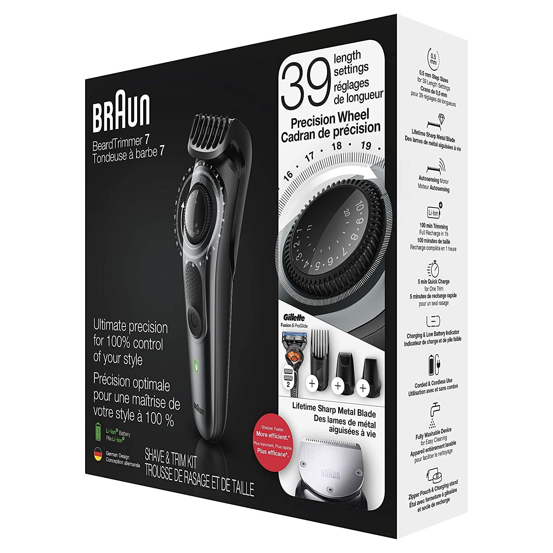 Braun Wet & Dry Cordless Hair & Beard Styler BT7240 with Gillette ProGl Gift enlarge