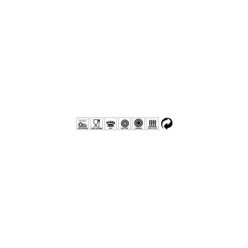 Cacerola 24* + tapa de vidrio - K2 Gransasso - MAGEFESA