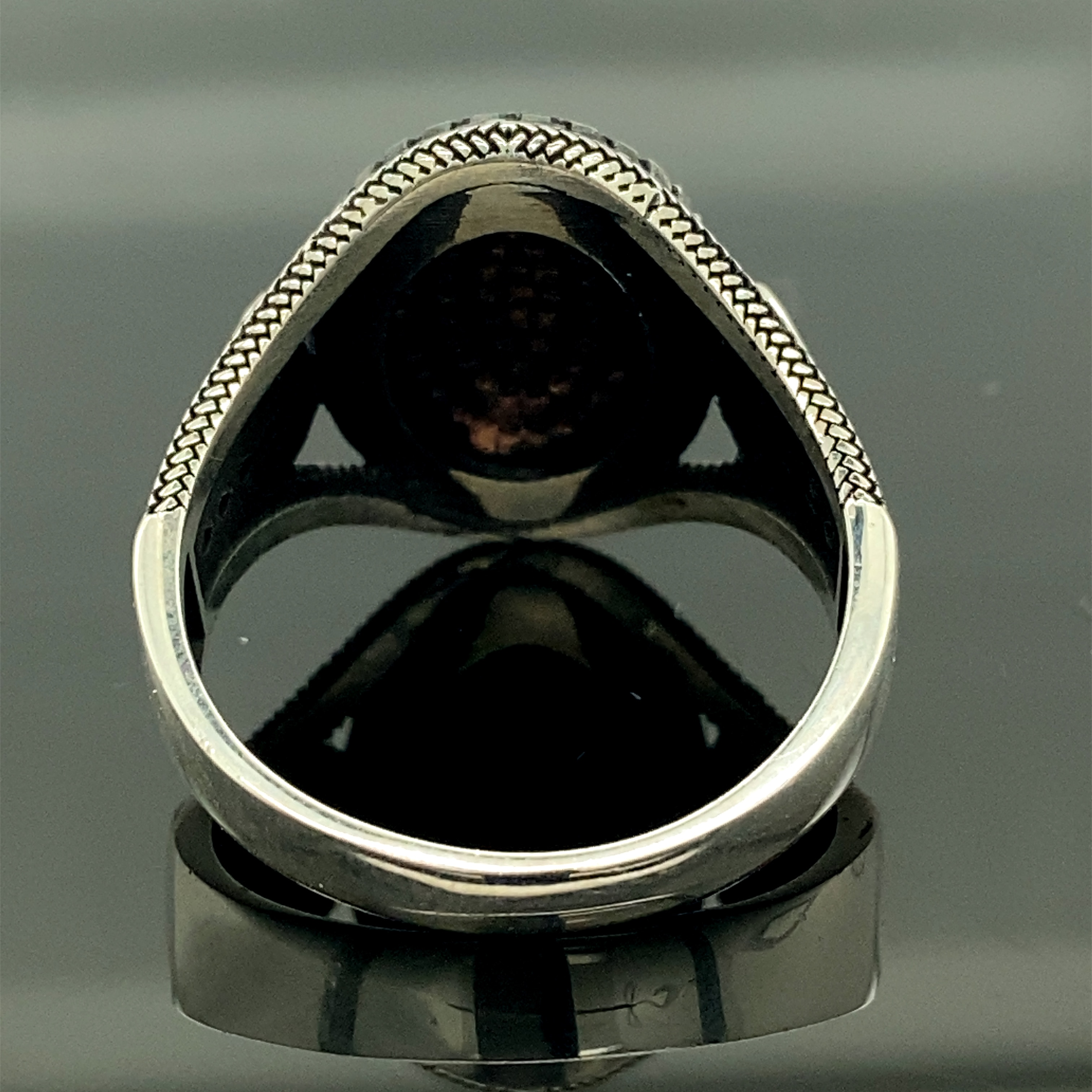 925k Silver Black Stone Men Ring, Ottoman Jewelry, Turkish Style Handmade Ring