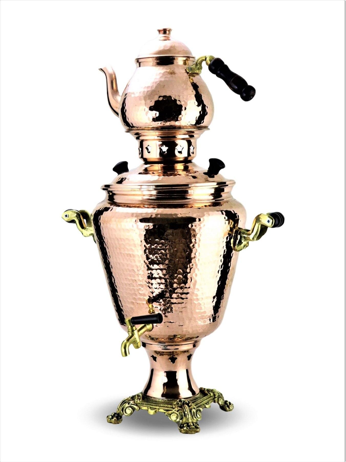 SONAY медь новая модель кованая медь самовар никель используется с углем, 1 мм толщиной 4 л Емкость