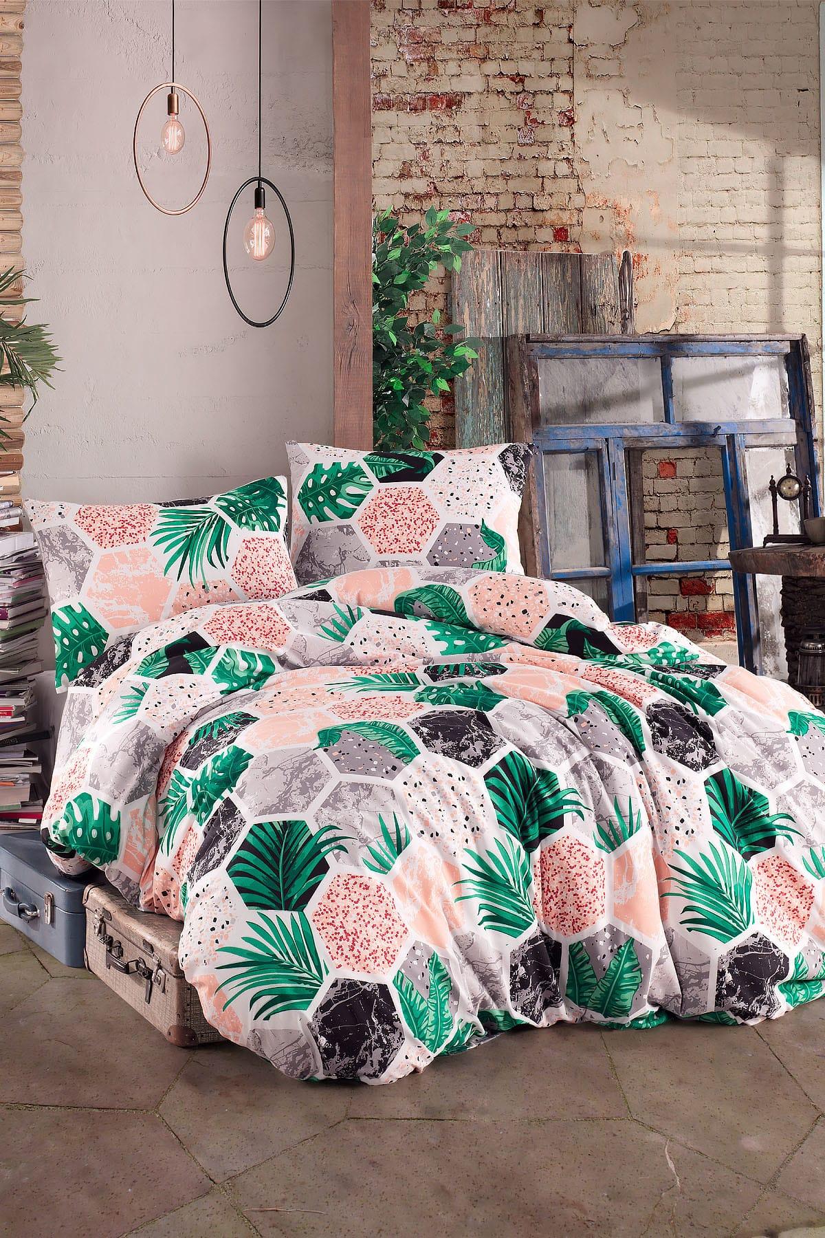 هاواي في ladymo مزدوجة حاف مجموعة غطاء أنيق الصيف الشتاء اللون مطابقة الإنتاج في تركيا الأخضر PİNK