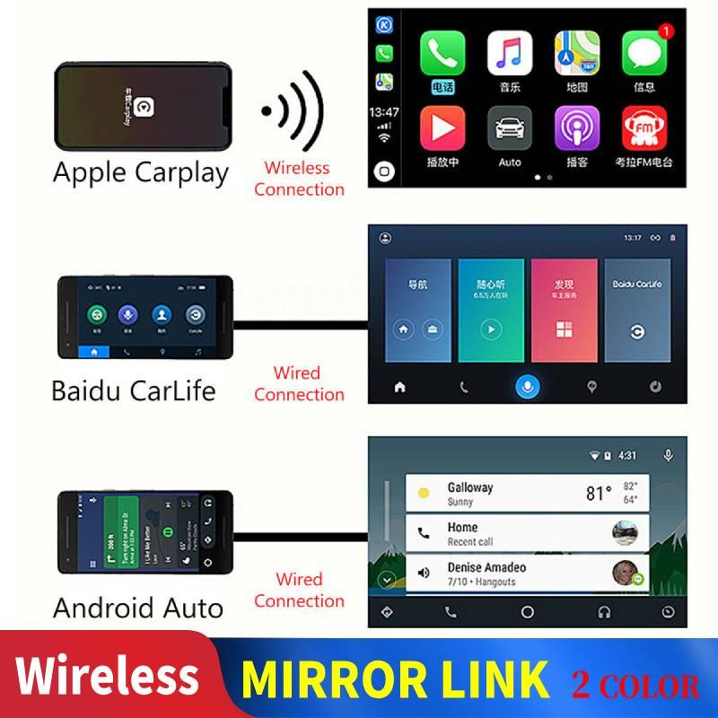Carlinkit-Adaptador inalámbrico A3 para Apple Carplay, Dongle automático para coche, Android, Iphone,...