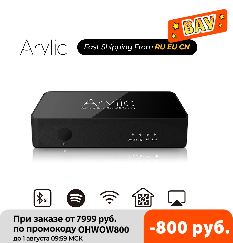 جهاز استقبال الصوت استيريو من arالاكريليك موديل S10 مزود بخاصية WiFi وبلوتوث 5.0 HiFi مع تطبيق Spotify Airplay DLNA متعدد الغرف وراديو موصل بالإنترنت