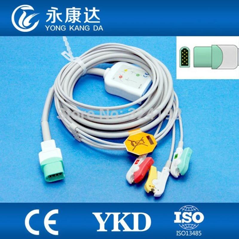 2 unids/pack Datascope 3 Plomo cable ECG 12pin IEC clip