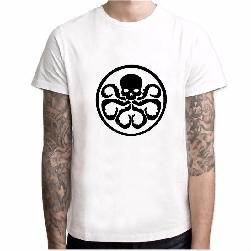 Agentes da SHIELD. T-shirt Dos Homens do Algodão T Camisa Filme escudo Encabeça Traje Cosplay Granizo Hidra Coulson Tshirts Águia Top YH018