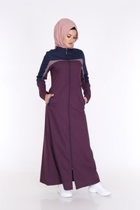 Islamic Summer  Long from Turkey Dress by High Quality Cotton Fabric Openable in Front with Zipper Turkish Clothing