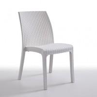 Chair VIKA stackable white polypropylene